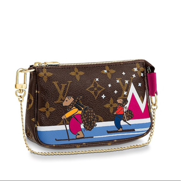 26e06f7404c5 Limited Edition Mini Pochette Skiing Bears. NWT. Louis Vuitton